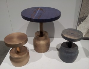 charred wood tables