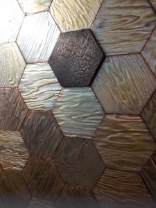 geometric honeycomb tiles