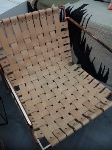 Woven leather chair
