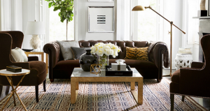 leather couch - add texture - williams sonoma home