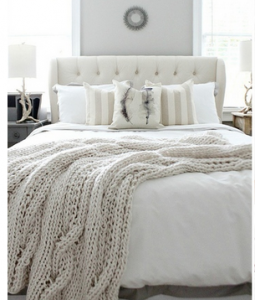 white winter bedroom - refresh restyle