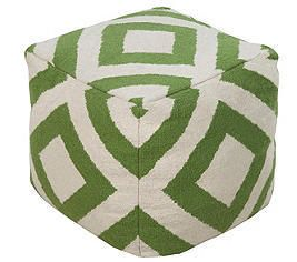 Green - pattern pouf