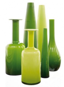 Green - vases tall
