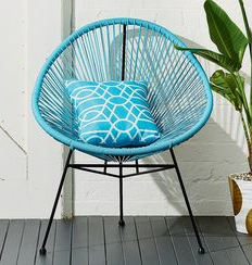 blue chair - wire