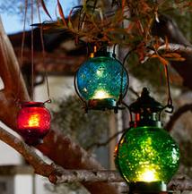 Patio - coloured lanterns